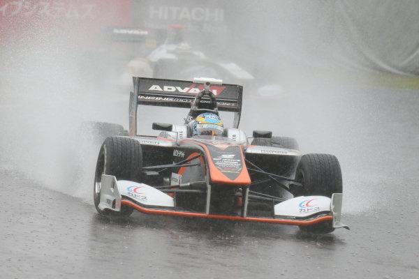 2017 Japanese Super Formula. Suzuka, Japan. 21st - 22nd October 2017. Rd 7. Cancelled race due to Typhoon. 2017 Driver?s Champion Hiroaki Ishiura ( #2 P.MU/CERUMO ? INGING SF14 ) action  World Copyright: Yasushi Ishihara / LAT Images. Ref: 2017_SF_Rd7_003