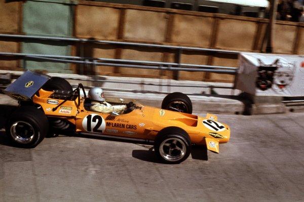 1970 Monaco Grand Prix.Monte Carlo, Monaco.7-10 May 1970.Bruce McLaren (McLaren M14A Ford).World Copyright - LAT Photographic