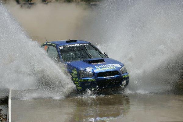 2005 FIA World Rally Champs. Round Sixteen, Rally Australia.10th - 13th November 2004.Toshi Arai, Subaru, action.World Copyright: McKlein/LAT