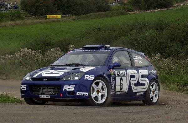 Markko Martin (EST), Ford Focus RS WRC, on Stage 21.Fia World Rally Championship, Rd10, Rallye Deutschland, Germany, Leg 3, 25 August 2002.DIGITAL IMAGE