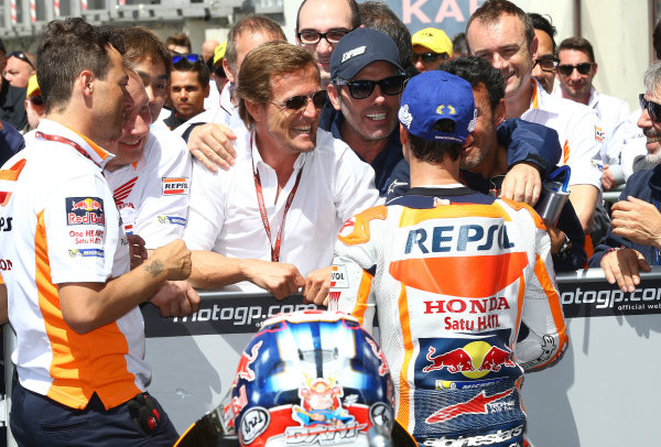 2017 MotoGP Championship - Round 5 Le Mans, France Sunday 21 May 2017 Sete Gibernau, third place Dani Pedrosa, Repsol Honda Team World Copyright: Gold & Goose Photography/LAT Images ref: Digital Image 672125