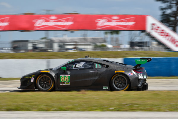 2017 WeatherTech SportsCar Championship - IMSA February Test Sebring International Raceway, Sebring, FL USA Friday 24 February 2017 86, Acura, Acura NSX, GTD, Oswaldo Negri Jr., Tom Dyer, Jeff Segal World Copyright: Richard Dole/LAT Images ref: Digital Image RD_2_17_177