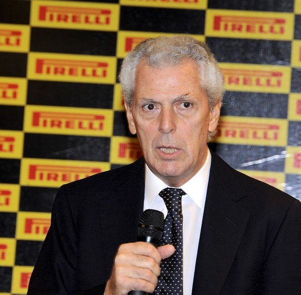 Marco Tronchetti Provera (ITA), President of the Pirelli Group.Pirelli 2012 Pre-Season Launch, Yas Marina Circuit, Abu Dhabi, Wednesday 25 January 2012.