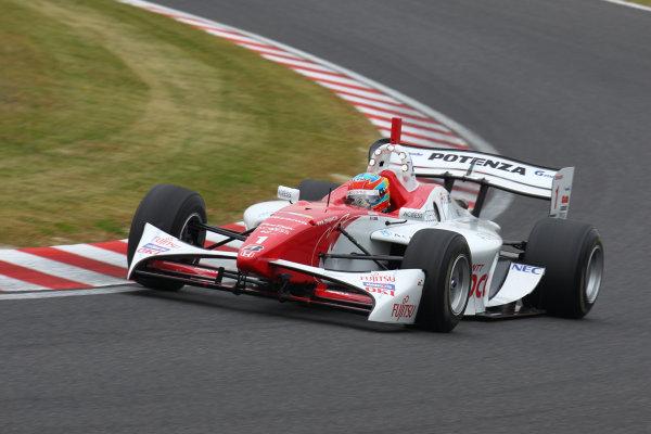 Rd 7 Suzuka, Japan. 6th - 7th November 2010.Race1, Winner Loic Duval ( #1 DOCOMO TEAM DANDELION RACING ) action.World Copyright: Yasushi Ishihara/LAT Photographic.Ref: 2010FN_R7_004.