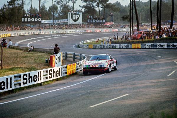 Le Mans, France. 9th - 10th June 1973.Claude Ballot-Lena/Vic Elford (Ferrari 365 GTB/4), 6th position, action. World Copyright: LAT Photographic.Ref:  73LM