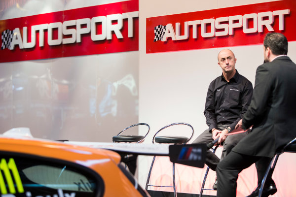 Autosport International Exhibition. National Exhibition Centre, Birmingham, UK. Saturday 10 January 2015. David Brabham on the Autosport stage. World Copyright: Zak Mauger/LAT Photographic. ref: Digital Image _L0U3607