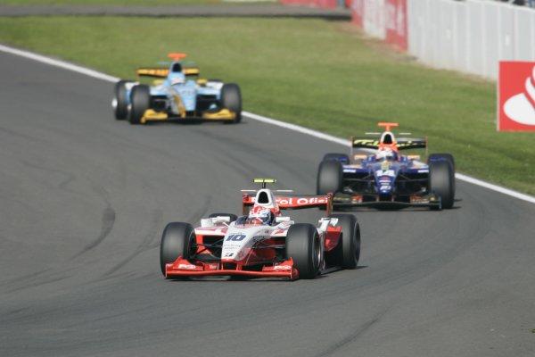 2007 GP2 Series Round 5. Silverstone, England. 8th July 2007. Sunday Race.Adam Carroll (GBR, Petrol Ofisi FMS International). Action.World Copyright: Andrew Ferraro/GP2 Series Media Service.  ref: Digital Image _F6E6596