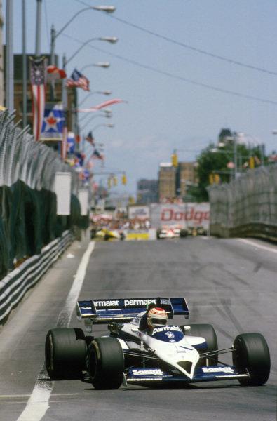 Detroit, Michigan, USA.22-24 June 1984.Nelson Piquet (Brabham BT53 BMW) 1st position.Ref-84 USA 06.World Copyright - LAT Photographic