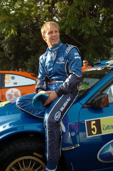 Petter Solberg (NOR), with the new Subaru Impreza WRC2008.FIA World Rally Championship, Rd7, Acropolis Rally, Athens, Greece, Day One, Friday 30 May 2008.
