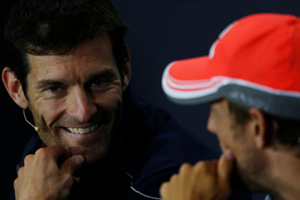 Silverstone, Northamptonshire, England 27th June 2013 Mark Webber, Red Bull Racing World Copyright: Charles Coates/  ref: Digital Image _N7T6353