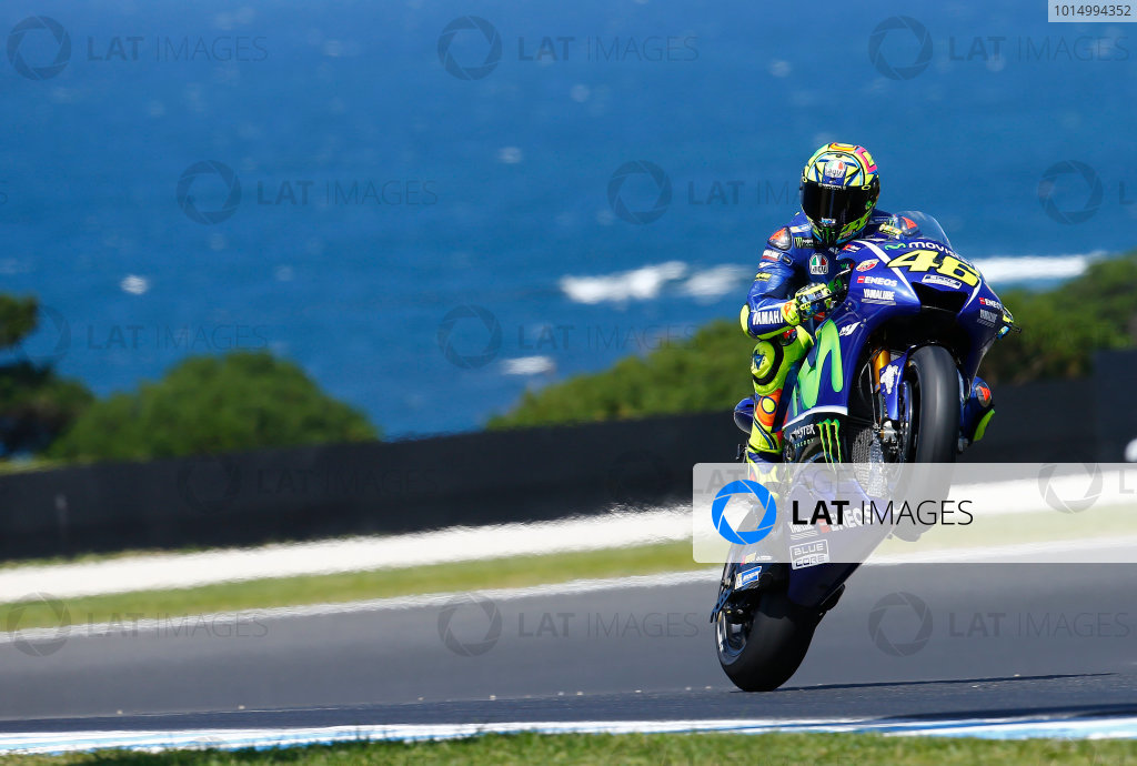 2017 MotoGP Championship - Round 16 Phillip Island, Australia. Friday 20 October 2017 Valentino Rossi, Yamaha Factory Racing World Copyright: Gold and Goose / LAT Images ref: Digital Image 698260