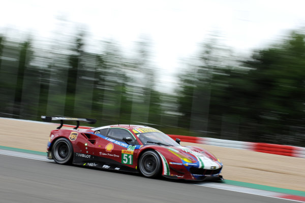2017 World Endurance Championship, Nurburgring, Germany. 14th-16th July 2017 #51 AF Corse Ferrari 488 GTE: James Calado, Alessandro Pier Guidi,   World copyright. JEP/LAT Images