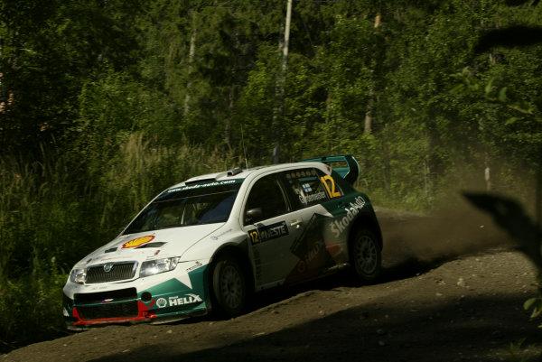 2004 FIA World Rally Champs. Round nine, Neste Rally Finland.5th - 8th August 2004.Toni Gardemeister, Sokda, action.World Copyright: McKlein/LAT