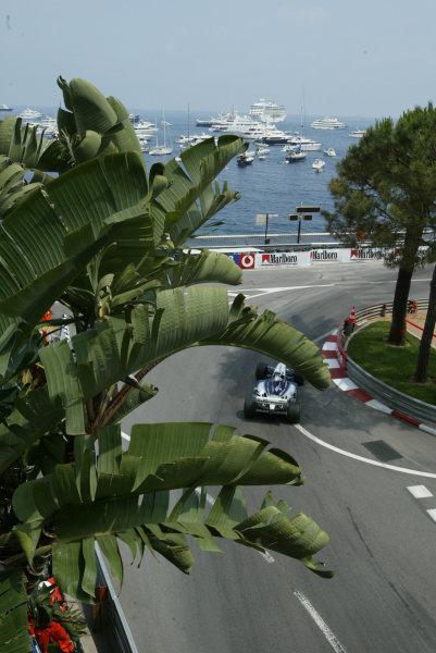 2003 Monaco Grand Prix, Sunday Race,Monte Carlo, Monaco.1st June 2003.Juan-Pablo Montoya, BMW Williams FW24, action.World Copyright LAt Photographic.Digital Image Only.