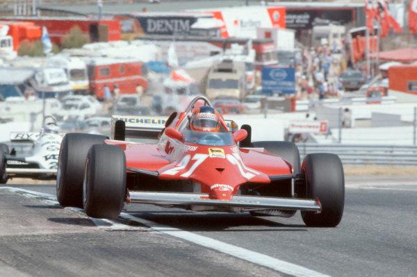 1981 Spanish Grand PrixJarama, Spain. 19th - 21st June.Gilles Villeneuve (Ferrari). Action.World Copyright: LAT Photographicref: 81 ESP 35