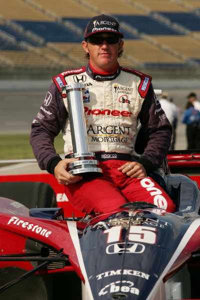 14-15 August, 2004, Kentucky Speedway, Sparta, KY, Buddy Rice wins the pole position, - Michael Kim, USA LAT Photographic