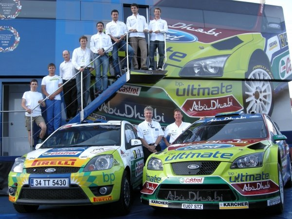 Turkish crews competing in the Fiesta Sporting Trophy International; Fiesta ST and Focus WRC; Mark Deans (GBR); Malcolm Wilson (GBR). 