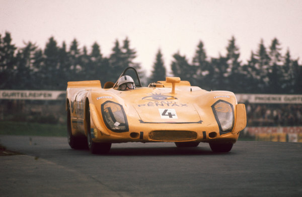 Nurburgring, Germany. 31st May 1970. Rd 7.Sepp Greger/Helmut Leuze (Porsche 908/02), 8th position, action. World Copyright: LAT Photographic.Ref:  70Ring 09.