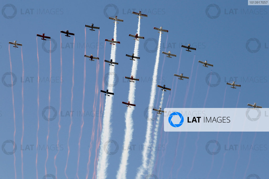 11-13 April, 2013, Fort Worth, Texas USA Fly over ©2013, Matthew T. Thacker LAT Photo USA .