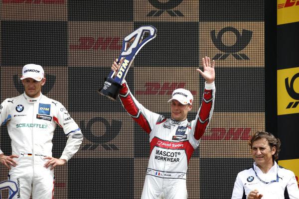 Podium: third place Loic Duval, Audi Sport Team Phoenix.