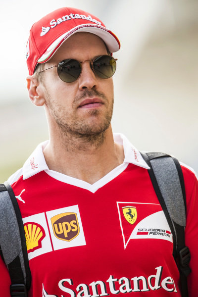Sebastian Vettel (GER) Ferrari at Formula One World Championship, Rd18, United States Grand Prix, Preparations, Circuit of the Americas, Austin, Texas, USA, Thursday 20 October 2016.