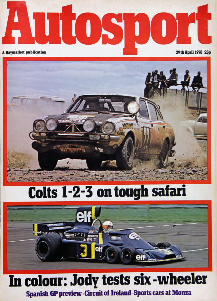 Cover of Autosport magazine, 29th April 1976