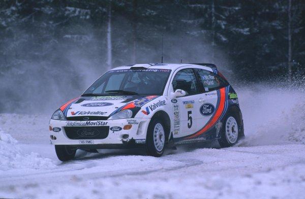 Colin McRae, Ford Focus WRC. 3rd PlaceSwedish Rally, Sweden 10-13/2/2000World - McKlein/LAT PhotographicRef: 2K WRC 04