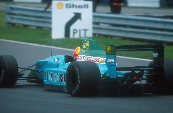1990 British Grand Prix.Silverstone, England.13-15 July 1990.Mauricio Gugelmin (Leyton House CG901 Judd). He failed to start the race when his fuel pump failed on the dummy grid.Ref-90 GB 30.World Copyright - LAT Photographic