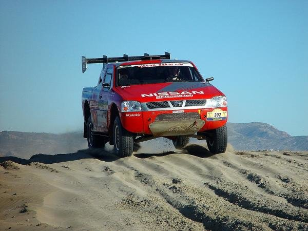 Colin McRae (GBR) / Tina Thorner (SWE) Nissan.Dakar Rally, Stage 3, Castell'n to Tanger, 3 January 2004.DIGITAL IMAGE