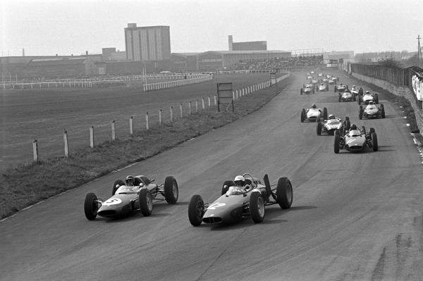 BARC 200, Aintree, 29th April1962 Start of the race