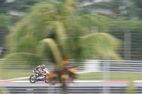 2017 Moto3 Championship - Round 17 Sepang, Malaysia. Friday 27 October 2017 Patrik Pulkkinen, Peugeot MC Saxoprint World Copyright: Gold and Goose / LAT Images ref: Digital Image 25077