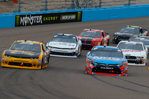 NASCAR Xfinity Series DC Solar 200 ISM Raceway, Phoenix, AZ USA Saturday 10 March 2018 Kyle Busch, Joe Gibbs Racing, Toyota Camry NOS and Daniel Hemric, Richard Childress Racing, Chevrolet Camaro South Point Hotel & Casino World Copyright: Russell LaBounty NKP / LAT Images