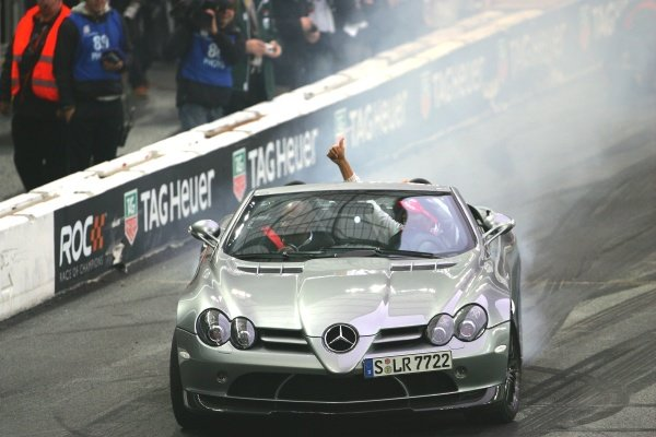 Lewis Hamilton (GBR) in the McLaren Mercedes SLR.