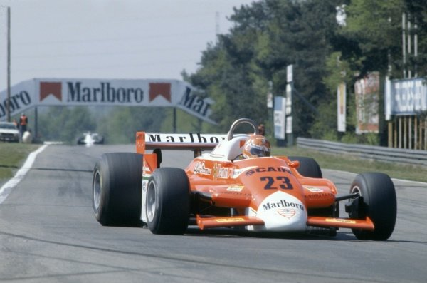 1980 Belgian Grand Prix.Zolder, Belgium. 2-4 May 1980.Bruno Giacomelli (Alfa Romeo 179B), retired.World Copyright: LAT PhotographicRef: 35mm transparency 80BEL19