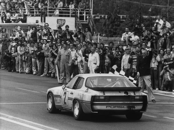 Le Mans, France. 14th - 15th June 1980.Andy Rouse/Tony Dron/Eberhard Braun (Porsche 924 Carrera GT Turbo), 12th position, action. World Copyright: LAT Photographic.Ref: B/WPRINT.