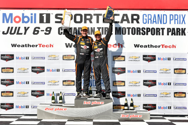 IMSA Continental Tire SportsCar Challenge Mobil 1 SportsCar Grand Prix Canadian Tire Motorsport Park Bowmanville, ON CAN Saturday 8 July 2017 56, Porsche, Porsche Cayman, ST, Jeff Mosing, Eric Foss, podium win, winner, victory lane World Copyright: Scott R LePage/LAT Images