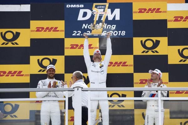 Podium: Race winner Edoardo Mortara, Mercedes-AMG Team HWA.