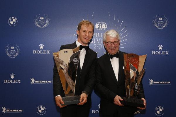 2016 FIA Prize Giving Vienna, Austria Friday 2nd December 2016 Mattias Ekstrom. Photo: Copyright Free FOR EDITORIAL USE ONLY. Mandatory Credit: FIA ref: 31012437010_0cb1181620_o