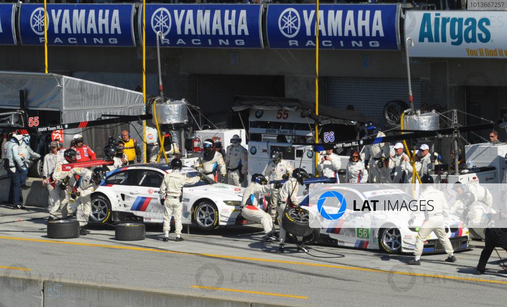 16-18 September, 2011, Monterey, California USA#55 & #56 BMW Team RLL BMW E92 M3 pitstop.(c)2011,  Dan R. Boyd  LAT Photo USA