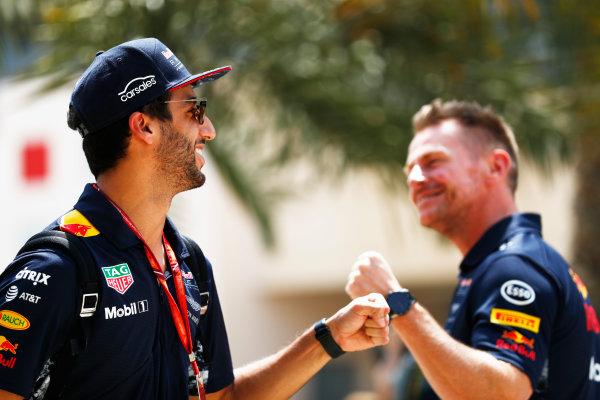 Bahrain International Circuit, Sakhir, Bahrain.  Friday 14 April 2017. Daniel Ricciardo, Red Bull Racing.  World Copyright: Sam Bloxham/LAT Images ref: Digital Image _J6I8769