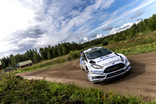 Ott Tanak (EST) / Raigo Molder (EST) Ford Fiesta RS WRC at FIA World Rally Championship, R8, Neste Oil Rally Finland, Day Two, Jyvaskyla, Finland, Saturday 1 August 2015.