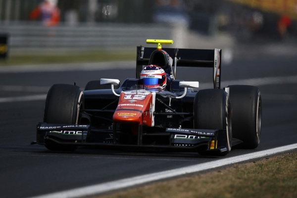 Rene Binder (AUT) Trident at GP2 Series, Rd6, Hungaroring, Hungary, 24-26 July 2015.