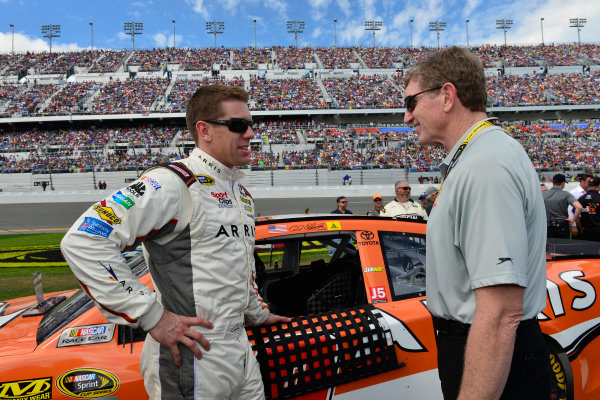 13-21 February, 2016, Daytona Beach, Florida USA Carl Edwards, Arris Toyota Camry, Bill Elliott ?2016, Logan Whitton  LAT Photo USA