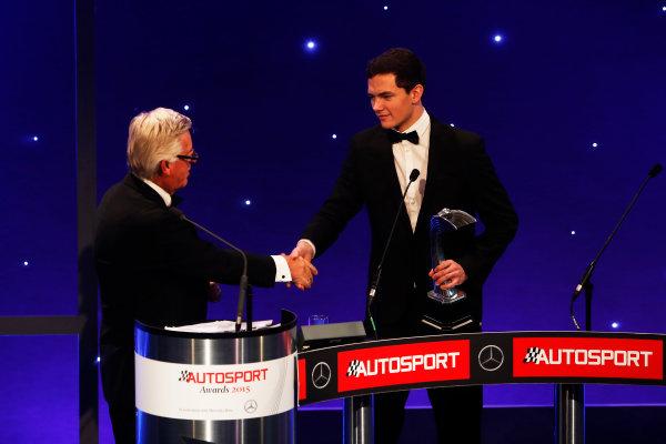 2015 Autosport Awards. Grosvenor House Hotel, Park Lane, London. Sunday 6 December 2015. British Club Driver, Will Palmer. World Copyright: Sam Bloxham/LAT Photographic. ref: Digital Image _SBL4365