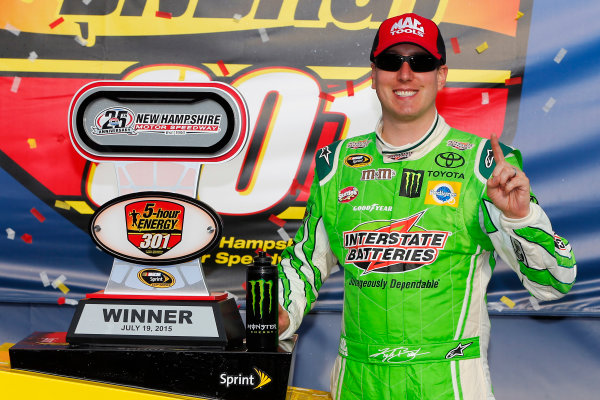 17-19 July, 2015, Loudon, New Hampshire USA Kyle Busch, Interstate Batteries Toyota Camry celebrates in victory lane ?2015, Russell LaBounty LAT Photo USA