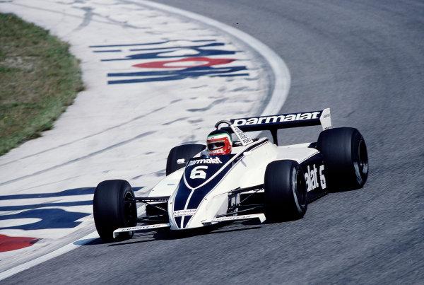 1981 Austrian Grand Prix.Osterreichring, Zeltweg, Austria.14-16 August 1981.Hector Rebaque (Brabham BT49C Ford).Ref-81 AUT 30.World Copyright - LAT Photographic