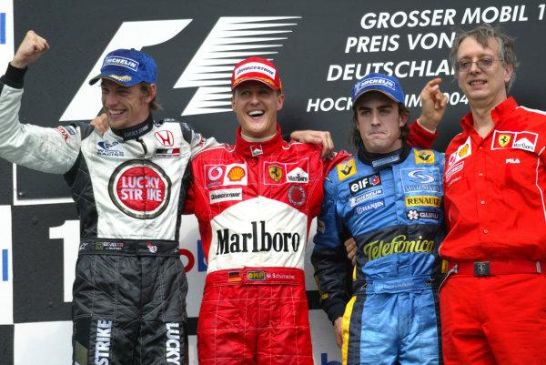 Jenson Button, Michael Schumacher Formula 1 Photos: German GP (2004)