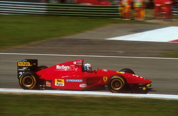 Imola, Italy.29/4-1/5 1994.Nicola Larini (Ferrari 412T1) 2nd position.Ref-94 SM 49.World Copyright - LAT Photographic