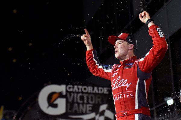 2017 Xfinity - Powershares QQQ 300 Daytona International Speedway, Daytona Beach, FL USA Saturday 25 February 2017 Ryan Reed celebrates his win in Victory Lane World Copyright: Nigel Kinrade/LAT Images ref: Digital Image _DSC6998