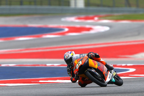 2017 Moto3 Championship - Round 3 Circuit of the Americas, Austin, Texas, USA Saturday 22 April 2017 Niccolo Antonelli, Red Bull KTM Ajo World Copyright: Gold and Goose Photography/LAT Images ref: Digital Image Moto3-Q-500-2252